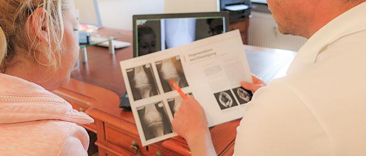 Besprechnung Röntgenbild